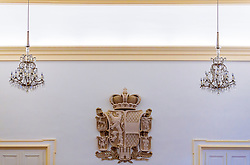 THEMNBILD - das Wappen des Bundeslandes Salzburg im Salzburger Landtag aufgenommen am 05. Oktober 2016, Chiemseehof, Salzburg, Österreich // The coat of arms of the province of Salzburg in the regional parliament at the Chiemseehof, Salzburg, Austria on 2016/10/05. EXPA Pictures © 2016, PhotoCredit: EXPA/ JFK