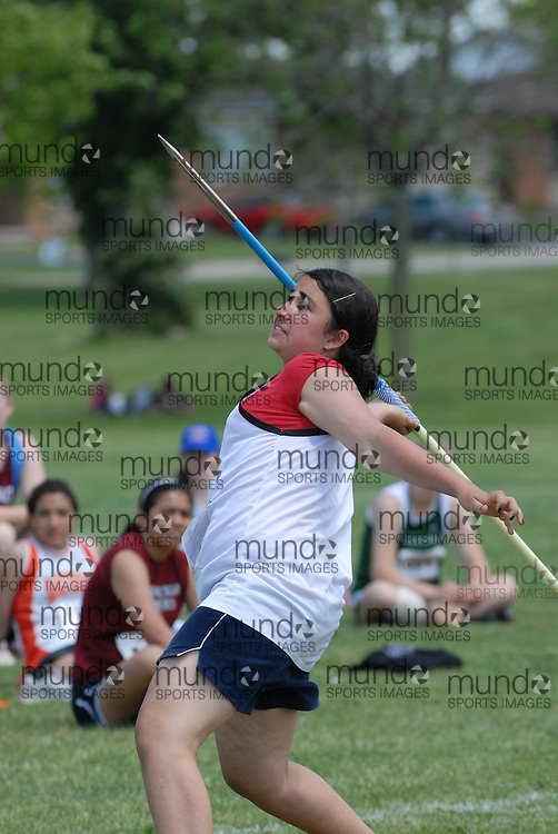 Hamilton, Ontario ---06/06/08--- \o\ competes in the javelin at the 2008 OFSAA Track and Field meet in Hamilton, Ontario..Mark Butterwick
