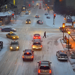 Rush hour traffic on Center Street in downtown Rochester Friday affternoon. <br />