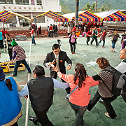 At the end of Aboriginal weddings a traditional circle dance made up of the guests will form. Alcoholic drink will be plied on the dancers. Namasiya Township, Kaoshiung County, Taiwan