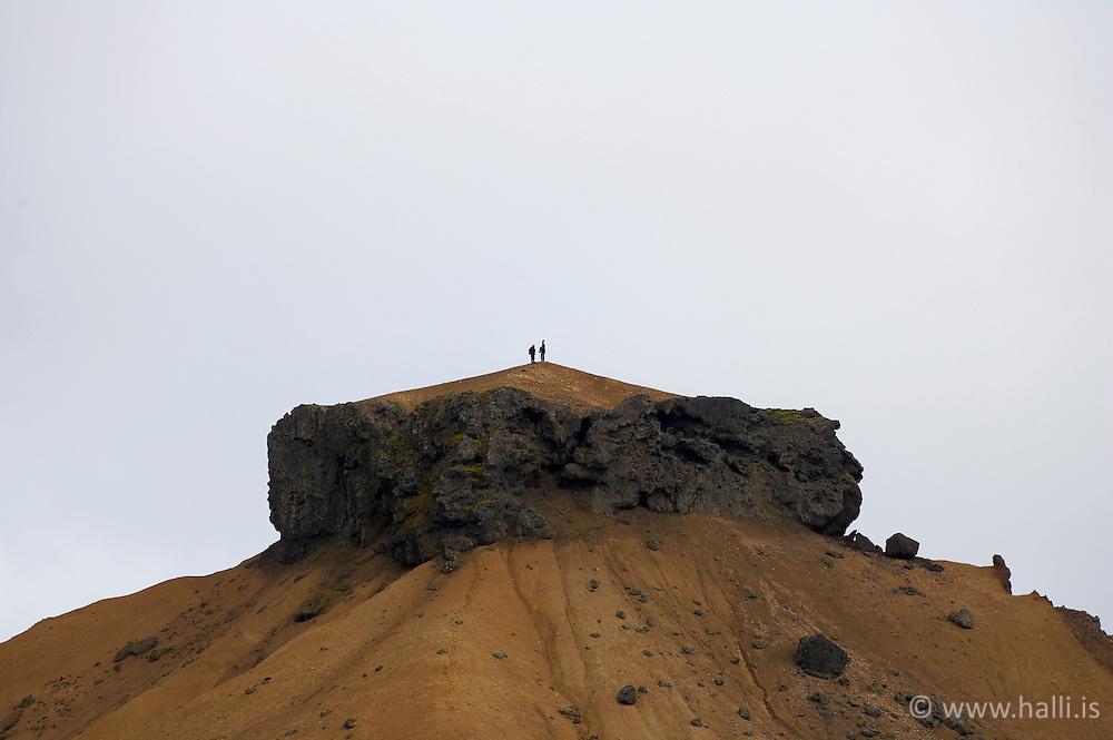 Hattur við Jökulsgilskvísl í Landmannalaugum / The mountain Hattur in Jokulsgilskvisl in Landmannalaugar