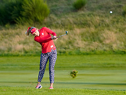Solheim Cup 2019 at Centenary Course at Gleneagles in Scotland, UK. Lexi Thompson approach on 18th hole during the  Friday Afternoon Fourballs.
