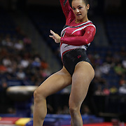Maggie Nichols, Little Canada, Minnesota, in action during the Floor Exercise during the Senior Women Competition at The 2013 P&G Gymnastics Championships, USA Gymnastics' National Championships at the XL, Centre, Hartford, Connecticut, USA. 15th August 2013. Photo Tim Clayton