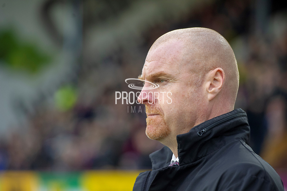 Burnley Manager Sean Dyche during the Premier League match between Burnley and West Ham United at Turf Moor, Burnley, England on 30 December 2018.