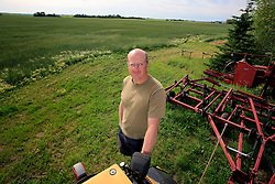 CANADA ALBERTA FORT SASKATCHEWAN 26JUL09 - Portrait of potato farmer Wayne Groot from Gibbons county near Fort Saskatchewan. His farm with prime agricultural soil is located near the Shell Scotford site and various oil companies have attempted to buy him out for proposed upgrader projects in the area...jre/Photo by Jiri Rezac / GREENPEACE..© Jiri Rezac 2009