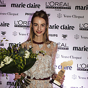NLD/Amsterdam/20150119 - De Marie Claire Prix de la Mode awards, Maartje Verhoef wint de award voor Best Dutch Model