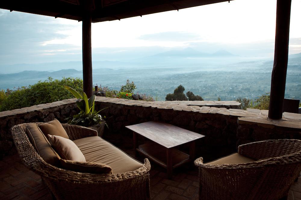 The view from Virunga Lodge