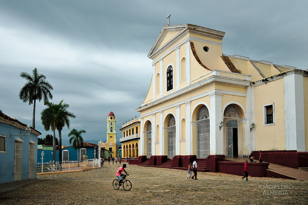 The chuch of Santísima Trinidad, the main building of Trinidad's Plaza Mayor
