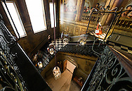 A staircase in Kensington Palace in London, England on May 23, 2012.  The palace had just recently reopened after a major renovation.