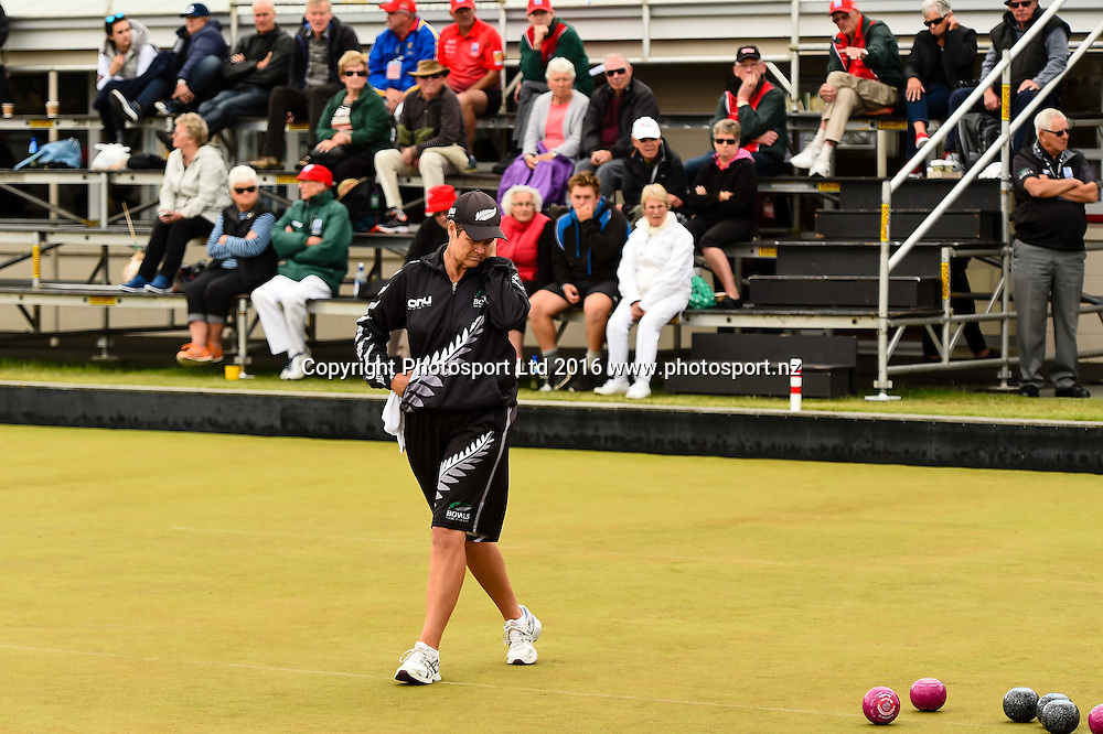 Jo Edwards (NZL) during the World Bowls Championships, Christchurch, New Zealand, 1st December 2016. © Copyright Photo: John Davidson / www.photosport.nz