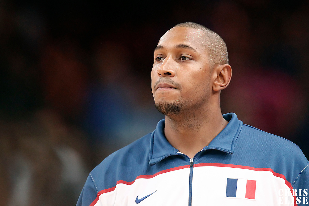15 July 2012: Boris Diaw of Team France warms up prior to a pre-Olympic exhibition game won 75-70 by Spain over France, at the Palais Omnisports de Paris Bercy, in Paris, France.