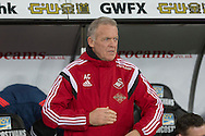 Swansea City manager Alan Curtis during the Barclays Premier League match between Swansea City and Sunderland at the Liberty Stadium, Swansea, Wales on 13 January 2016. Photo by Mark Hawkins.
