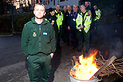 Kev Fairfax , Midlewood Ambulance  Station, Unison members on the TUC Day of Action 30th November, Sheffield .