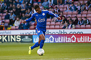 Leicester City midfielder Demarai Gray (7) breaks through the Sheffield United defence during the EFL Cup match between Sheffield Utd and Leicester City at Bramall Lane, Sheffield, England on 22 August 2017. Photo by Simon Davies.
