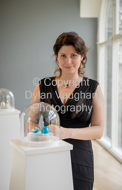Repro Free No Charge for Repro<br /> <br /> <br /> 14-7-17<br /> Magda Lewandowska pictured at the opening of Lustre, an exhibition of work by the 2017 graduates of the Design &amp; Crafts Council of Ireland&rsquo;s world-renowned Jewellery and Goldsmithing Skills &amp; Design Course, which runs at the&nbsp;National Craft Gallery, Kilkenny until 7 August 2017.<br /> <br /> Picture Dylan Vaughan.