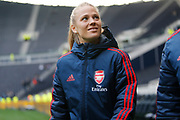 Leonie Maier before the FA Women's Super League match between Tottenham Hotspur Women and Arsenal Women FC at Tottenham Hotspur Stadium, London, United Kingdom on 17 November 2019.