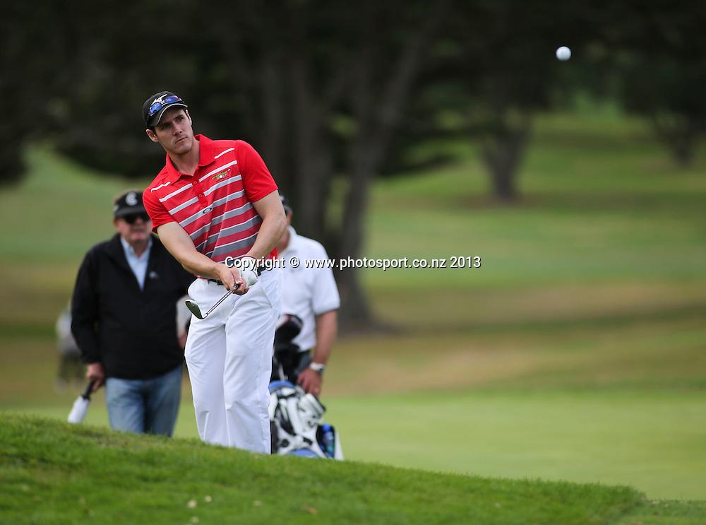 Mark Purser on the final day of the Taranaki Energy Open, New Plymouth Golf Club, New Zealand. Sunday 14 April, 2013. Photo: John Cowpland / photosport.co.nz