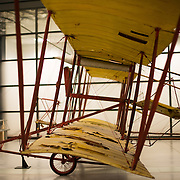 The Baldwin Red Devil (dating to 1911) on display at the Smithsonian National Air and Space Museum's Udvar-Hazy Center. Located near Dulles Airport, the Udvar-Hazy Center is the second public facility of the Smithsonian's National Air and Space Museum. Housed in a large hangar are a multitude of planes, helicopter, rockets, and space vehicles.
