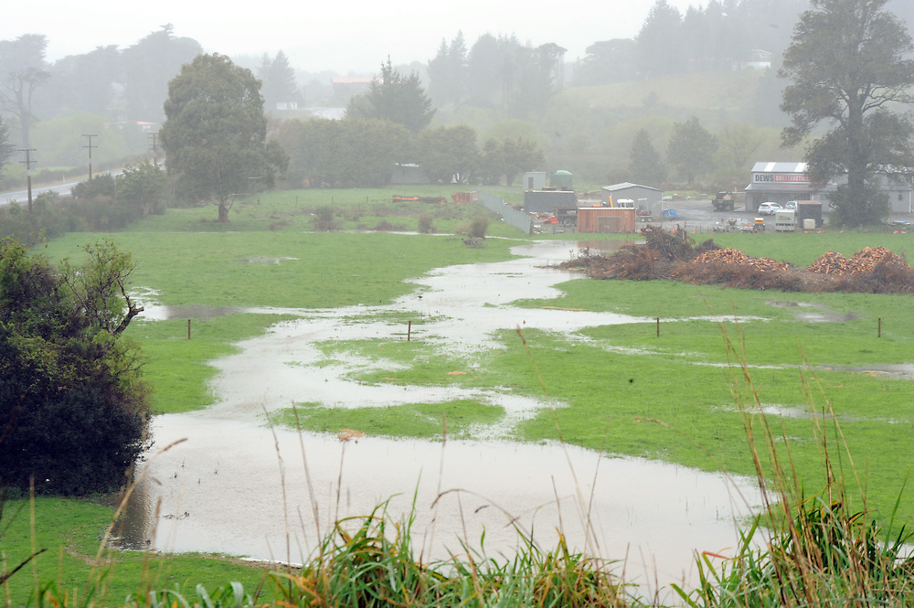 Flooded farmland after consistent rain, north of Upper Hutt, New Zealand, Wednesday, September 25, 2013. Credit:SNPA / Ross Setford