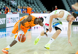 Charlon Kloof of Netherlands vs Alen Omic of Slovenia during basketball match between Slovenia vs Netherlands at Day 4 in Group C of FIBA Europe Eurobasket 2015, on September 8, 2015, in Arena Zagreb, Croatia. Photo by Vid Ponikvar / Sportida