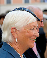 ROME - 5-7-2014 -King Albert and Queen Paola.<br />   Wedding Royal marriage of Belgium Prince Amedeo and Lili (Elisabetta) Rosboch von Wolkenstein at the Basilica di Santa Maria in Trastevere in Rome, Italy.  COPYRIGHT ROBIN UTRECHT