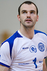 Tomaz Paravan of Salonit at final match of Slovenian National Volleyball Championships between ACH Volley Bled and Salonit Anhovo, on April 24, 2010, in Radovljica, Slovenia. ACH Volley defeated Salonit 3rd time in 3 Rounds and became Slovenian National Champion.  (Photo by Vid Ponikvar / Sportida)