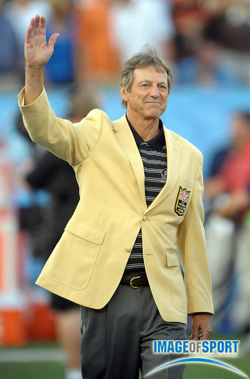 Aug 8, 2010; Canton, OH, USA; Dick LeBeau waves to the crowd before the preseason game between the Dallas Cowboys and the Cincinnati Bengals at Fawcett Stadium. Photo by Image of Sport