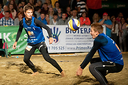 Kumer/Mozic during Final of Beach Volleyball Slovenian National Championship 2018, on July 21, 2018 in Kranj, Slovenia. Photo by Urban Urbanc / Sportida