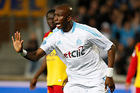 FOOTBALL - FRENCH CHAMPIONSHIP 2010/2011 - L1 - OLYMPIQUE MARSEILLE v RC LENS - 13/11/2010 - PHOTO PHILIPPE LAURENSON / DPPI - JOY AFTER GOAL STEPHANE MBIA (OM)