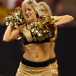 August 27, 2010; New Orleans, LA, USA; New Orleans Saints Saintssations cheerleaders perform during the second half of a preseason game at the Louisiana Superdome. The New Orleans Saints defeated the San Diego Chargers 36-21. Mandatory Credit: Derick E. Hingle