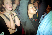 Girl with a whistle, Dream FM Pirate Radio Benefit, Labyrinth Dalston, London, 1994.