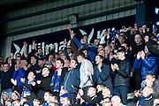 6th October 2018, Dens Park, Dundee, Scotland; Ladbrokes Premiership football, Dundee versus Kilmarnock; Kilmarnock fans