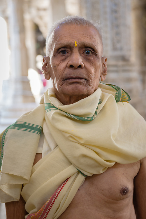 Elderly monk at Ranakpur Jain temple