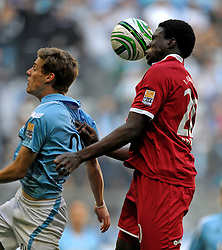 TSV 1860 Munich v FC Kaiserslautern,  Sandro Kaiser (1860) Rodnei (ball in face, Kaiserslautern) fight for the ball. 1st November 2009.