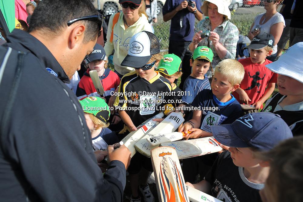 NCC cricket supercamp at Anderson Park, Wellington, New Zealand on Thursday, 13 January 2011. Photo: Dave Lintott / photosport.co.nz