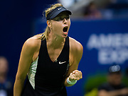 Maria Sharapova of Russia in action during the second round at the 2018 US Open Grand Slam tennis tournament, at Billie Jean King National Tennis Center in Flushing Meadow, New York, USA, August 30th 2018, Photo Rob Prange / SpainProSportsImages / DPPI / ProSportsImages / DPPI