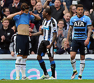 Georginio Wijnaldum (5) of Newcastle United celebrates scoring the opening goal during the Barclays Premier League match at St. James's Park, Newcastle<br /> Picture by Simon Moore/Focus Images Ltd 07807 671782<br /> 15/05/2016