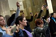 20180910/ Nicolas Celaya - adhocFOTOS/ URUGUAY/ MONTEVIDEO/ HOSPITAL PEREIRA ROSSELL/ Orquesta Sinf&oacute;nica del SODRE durante la presentaci&oacute;n de &ldquo;M&uacute;sica + Salud&rdquo;, en el Hospital Pereira Rossell, Montevideo.<br /> En la foto: Orquesta Sinf&oacute;nica del SODRE durante la presentaci&oacute;n de &ldquo;M&uacute;sica + Salud&rdquo;, en el Hospital Pereira Rossell, Montevideo. Foto: Nicol&aacute;s Celaya /adhocFOTOS