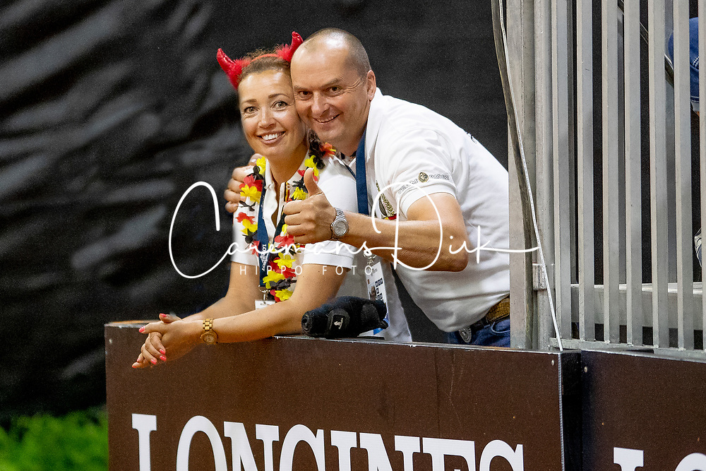 Fonck Bernard and Ann, BEL<br /> World Equestrian Games - Tryon 2018<br /> © Hippo Foto - Dirk Caremans<br /> 12/09/2018