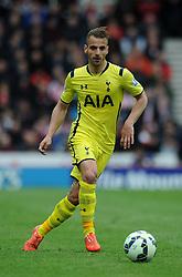 Tottenham Hotspur's Roberto Soldado - Photo mandatory by-line: Dougie Allward/JMP - Mobile: 07966 386802 - 09/05/2015 - SPORT - Football - Stoke - Britannia Stadium<br />  - Stoke v Tottenham Hotspur - Barclays Premier League
