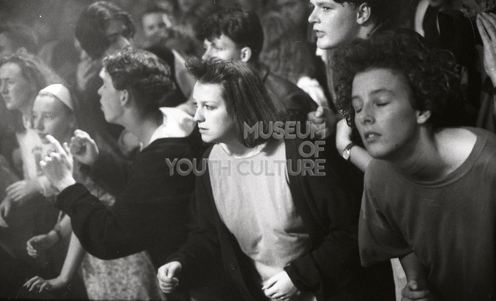 Dancing audience, Happy Mondays performing at Granada TV Studios, 1989