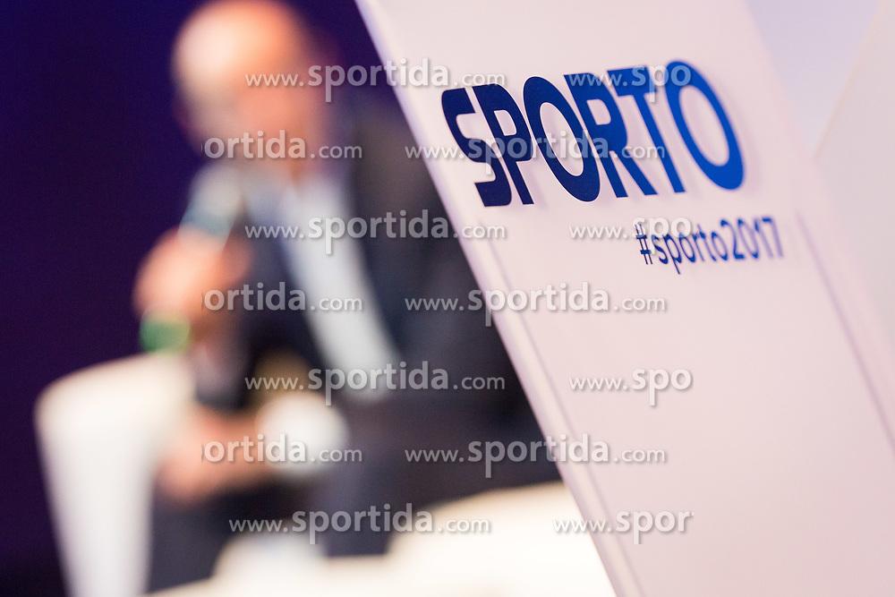 Pierre Lienhard (UEFA), Laurent Morel (UEFA) and Sasa Jerkovic during Sports marketing and sponsorship conference Sporto 2017, on November 16, 2017 in Hotel Slovenija, Congress centre, Portoroz / Portorose, Slovenia. Photo by Vid Ponikvar / Sportida