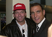 Nick Bateman and Vinnie Jones. Snatch Premiere. Odeon Leicester Sq. London. 23 Augusty 2000. <br />