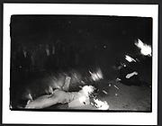 Burning boats, St. John's college, Cambridge. June 1988