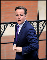 The Prime Minister David Cameron arrives at the Leveson Inquiry at the High Court, London, to give evidence to the inquiry, Thursday June 14, 2012. Photo by Andrew Parsons/i-Images..All Rights Reserved ©Andrew Parsons/i-Images .See Special Instructions