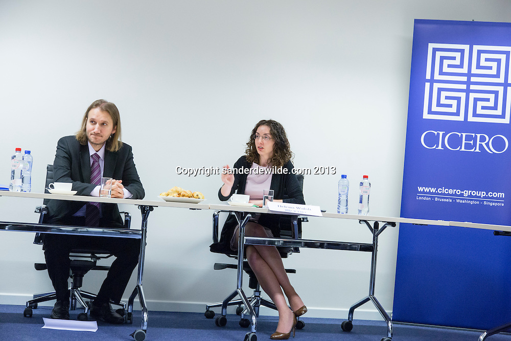 meeting at Cicero Group<br />  Brussels on the presidency of Greece with Alexandros Tavoutsoglou and Helena Ward. on 4th December 2013 Brussels