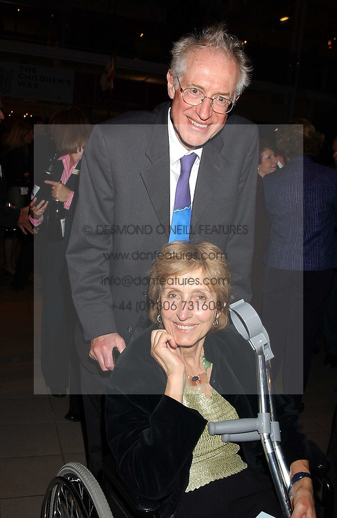 Broacaster BAMBER GASCOIGNE and his wife CHRISTINA at the opening of the exhibition 'Lawrence of Arabia: The Life, The Legend' at the Imperial War Museum, Lambeth Road, London SE1 on 11th October 2005.<br /><br />NON EXCLUSIVE - WORLD RIGHTS