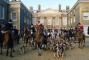 Pytchley Hunt at a meet outside Althorp House, Northamptonshire UK.