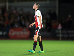 Carl Winchester of Cheltenham Town - Mandatory by-line: Paul Roberts/JMP - 23/08/2017 - FOOTBALL - LCI Rail Stadium - Cheltenham, England - Cheltenham Town v West Ham United - Carabao Cup