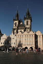 August 15, 2017 - Prague, Czech Republic - The Old Town Square is a historic square located in the Old Town of Prague in the Czech Republic. It is usually plagued by tourists during the summer. August 15, 2017  (Credit Image: © Oscar Gonzalez/NurPhoto via ZUMA Press)